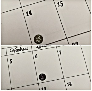 étiquettes calendrier 2018